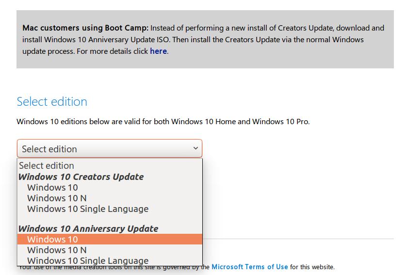 Microsoft Informs Mac Users to install Windows 10
