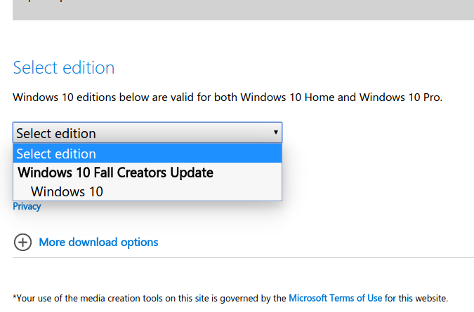 download win 10 1709 update
