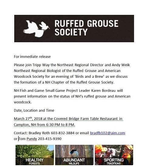 NH Chapter RGS Birds And Brew UJ Get TogethersEvents - Covered bridge farm table