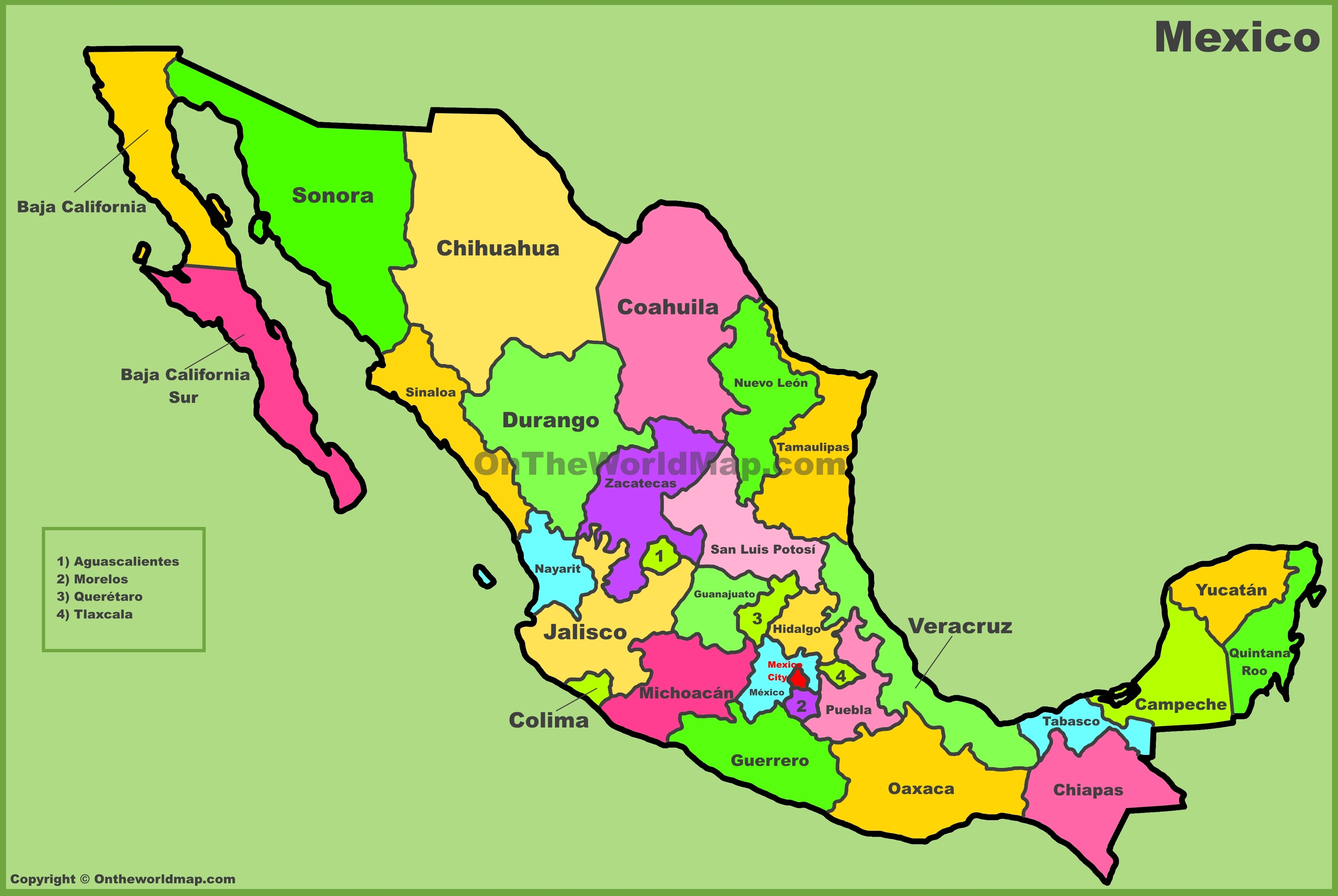 Mexico Aka United Mexican States Aka Estados Unidos Mexicanos 1917