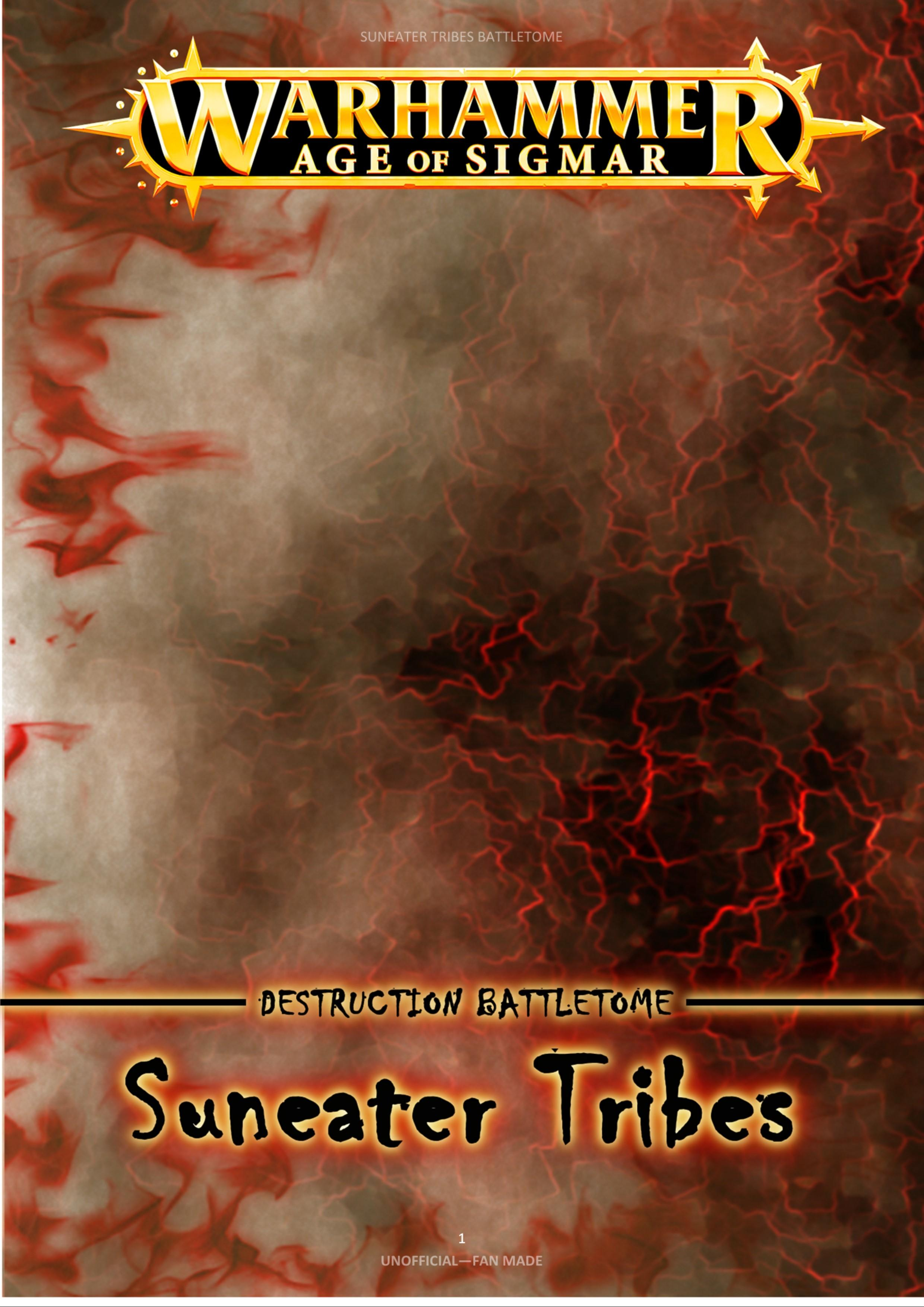 Suneater Tribes: The Warscrolls