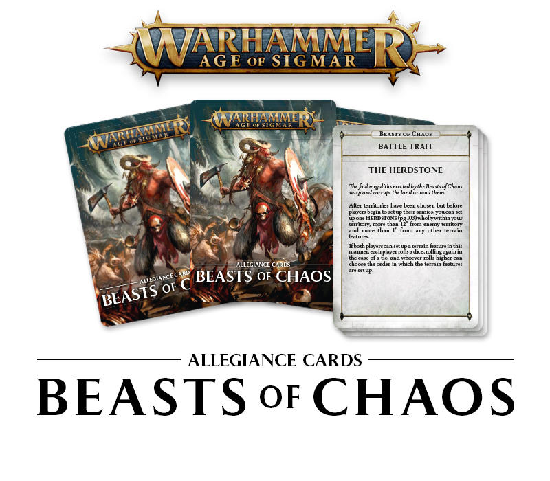 Beasts of Chaos cards (finally)