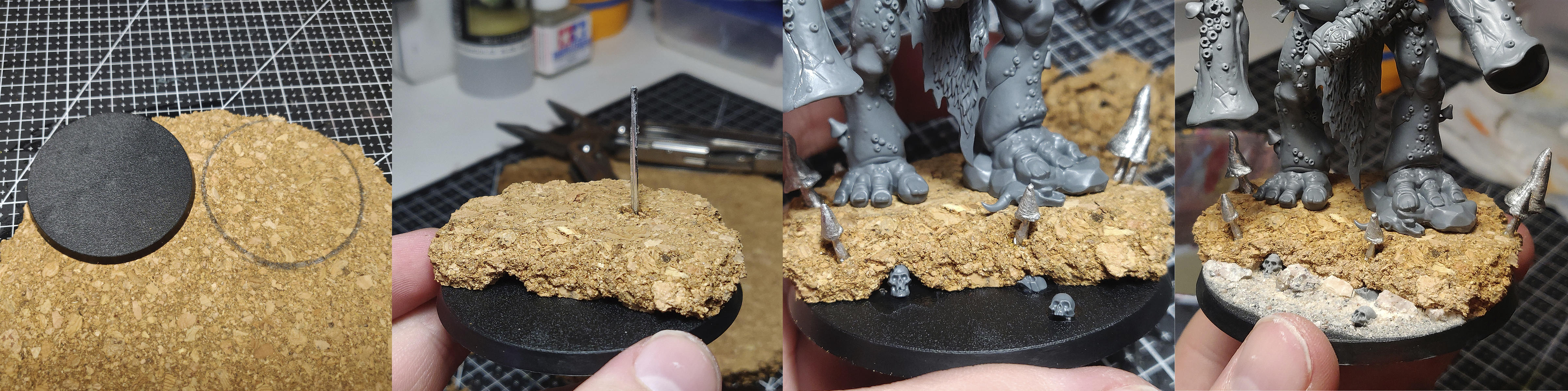 Guide to swamp basing. Working with cork and watereffects.