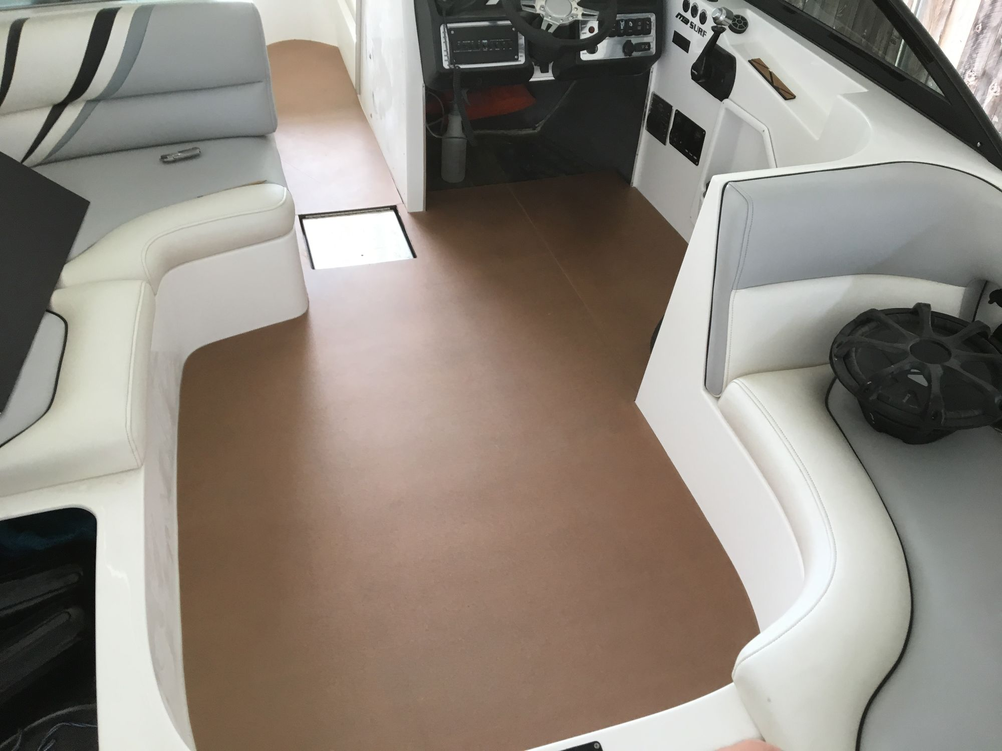 floor a flooring on hydrodeck solutions luxury marine the boat lanier bow water ga lake services walkthrough