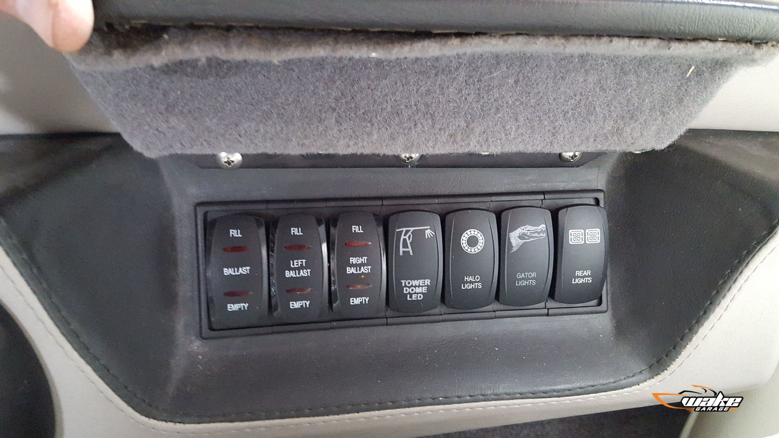 DIY ballast switch panels in place of head unit