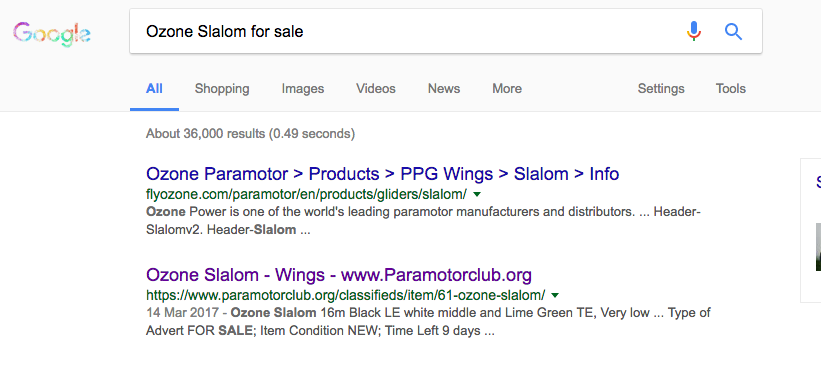 If your selling Paramotor kit, you need to be selling it