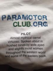 Paramotor Club custom t-shirt.