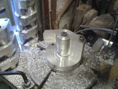 More machining on the larger rotary table
