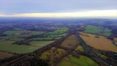 Flying over the Hogs Back, Guildford with André