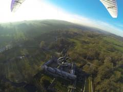 Flying above Haddon Hall