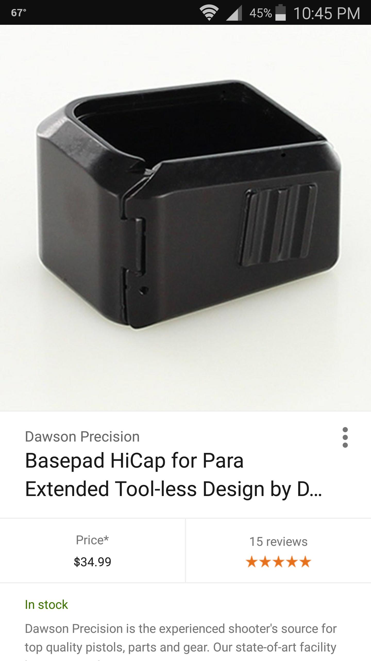 May have found P18 9 Pro Custom mags - Para - Brian Enos's