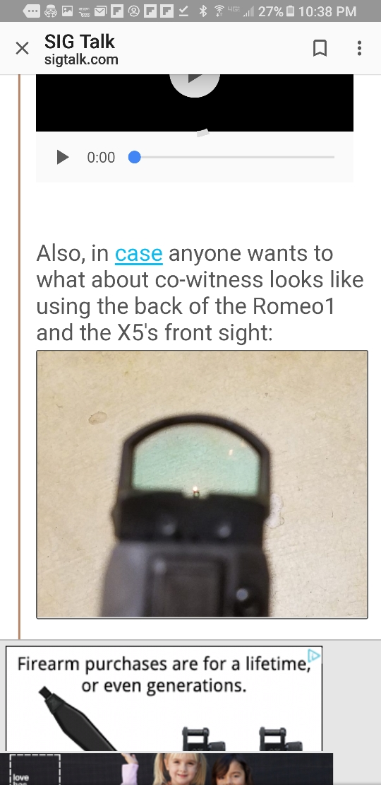 Rear sight notch on Romeo1 compatible with suppressor-height