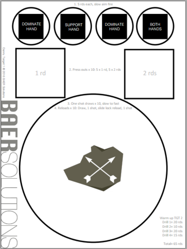 photo about Printable Pistol Drill Targets named Exercising Goals - ADAPT