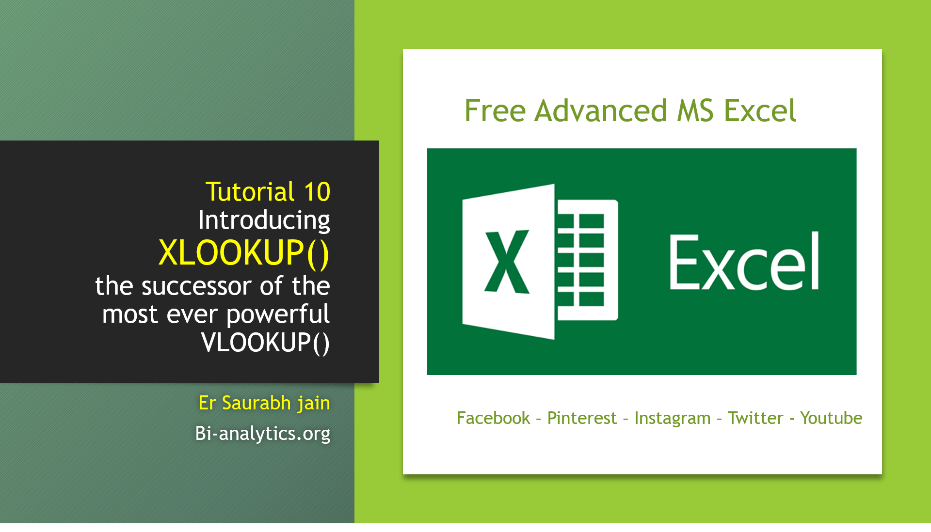 Tutorial 10 Introducing XLOOKUP()  the successor of the most ever powerful VLOOKUP()