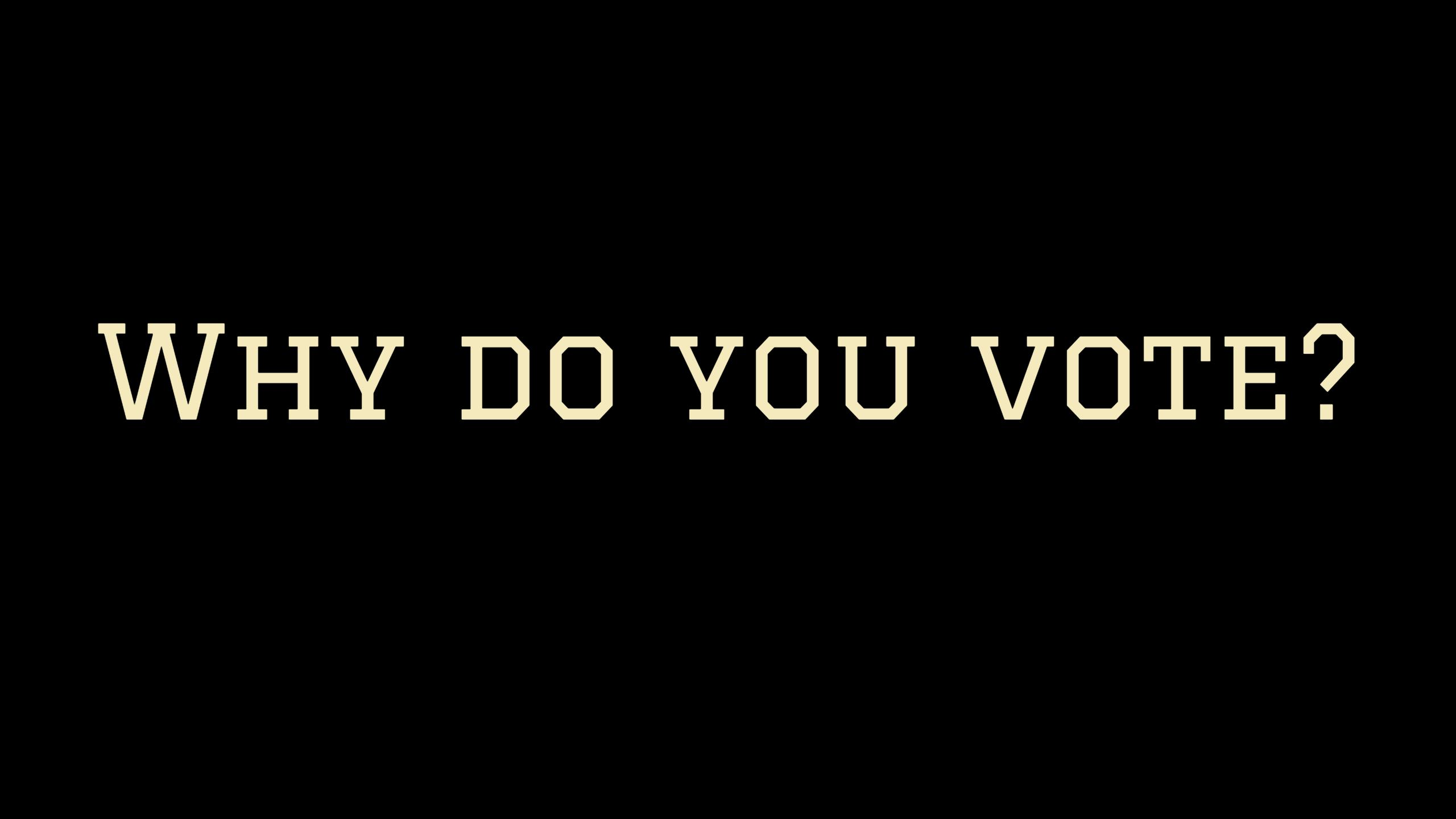 Why do you vote?