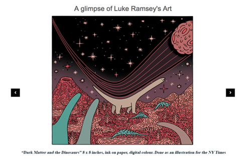 click this image for a slideshow of Luke Ramsey's art
