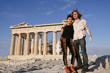 Kelsey and Daniel in Greece