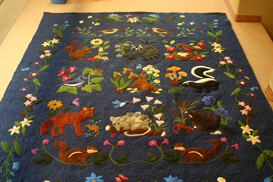 Woodland creatures pic quilt pictures patterns inspiration