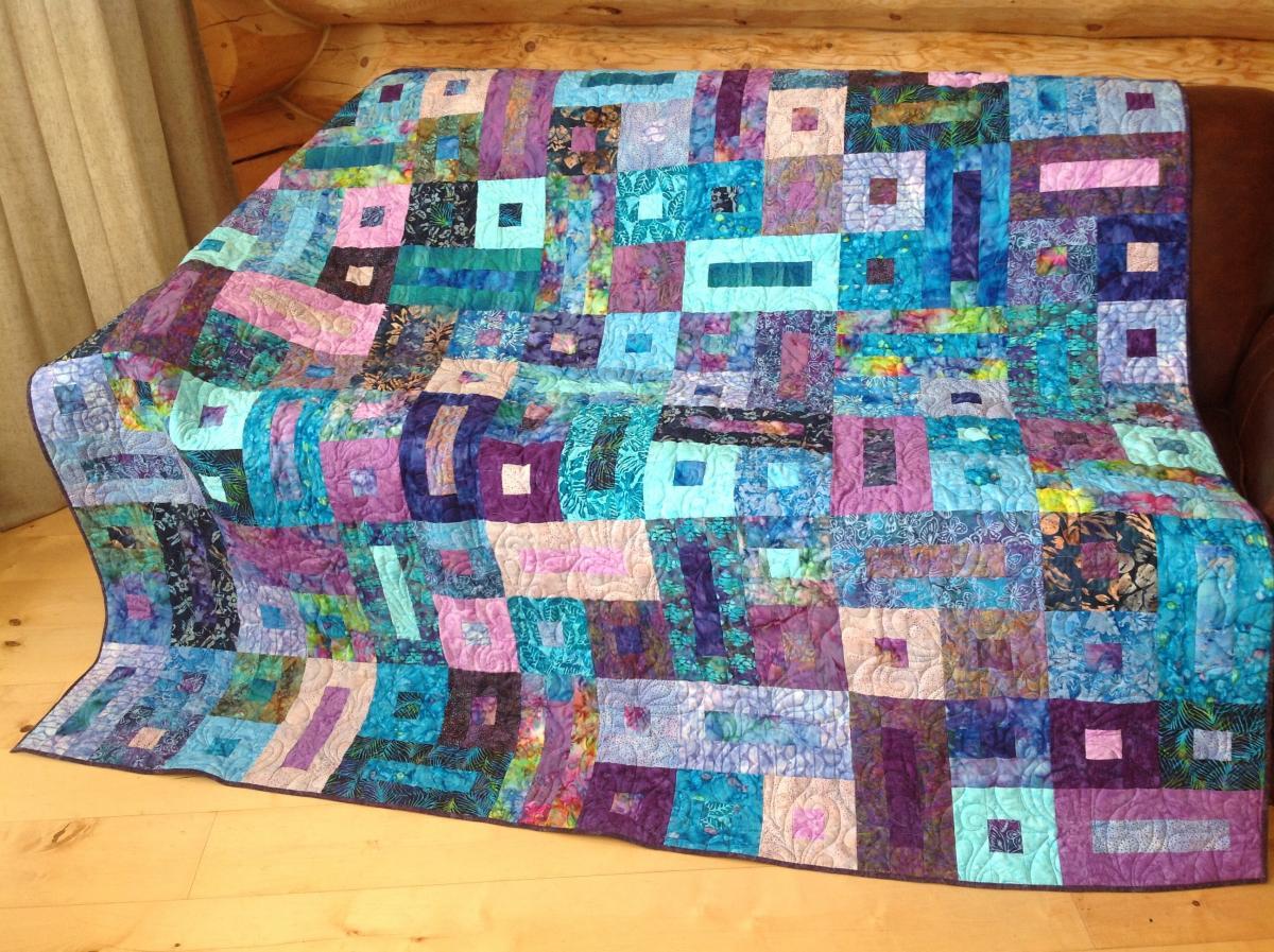 Resultado de imagem para Bricks & Cobblestones Quilt