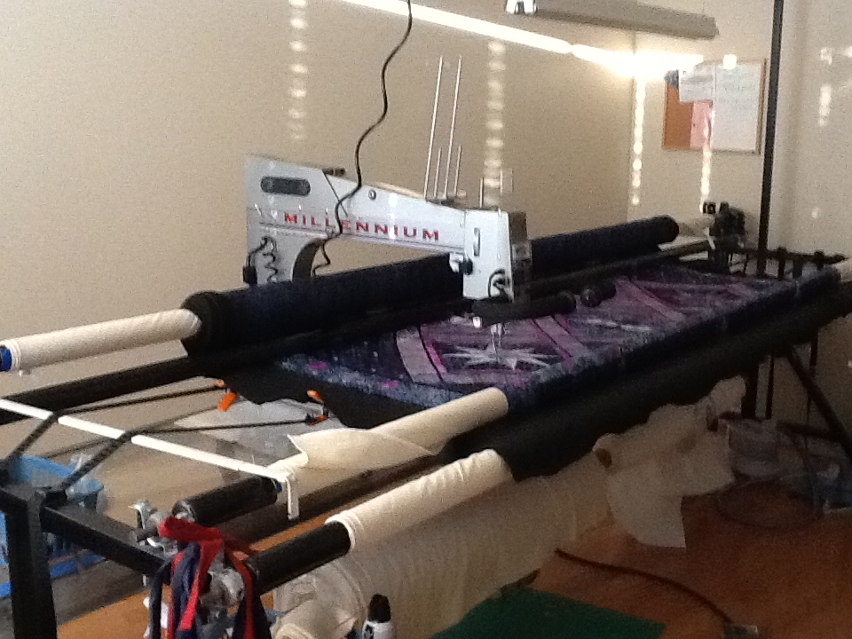 your machines quilting for arm quilt long lovebug studios preparing