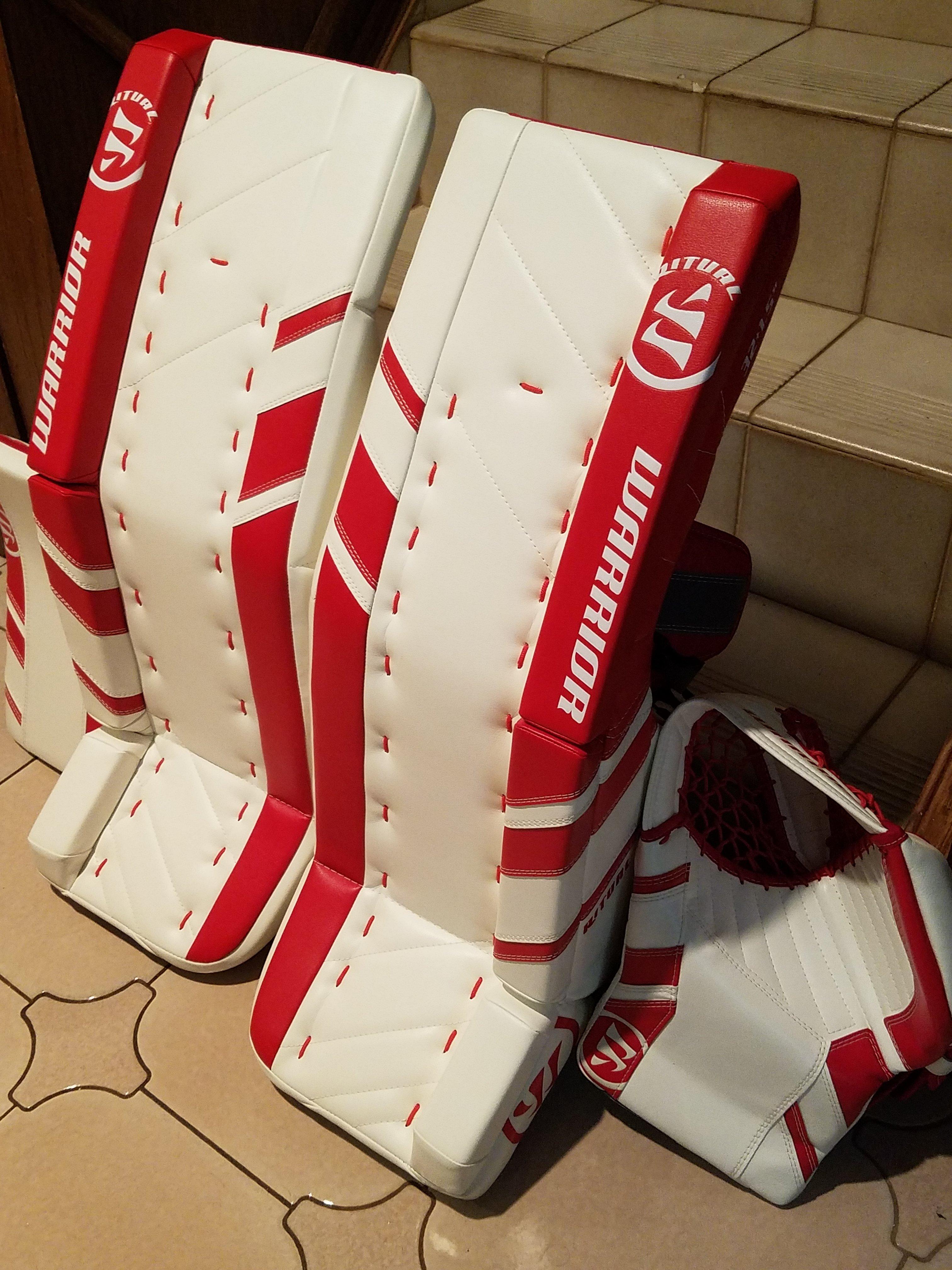 NEW Warrior Ritual G3 Pro Goalie Pads Glove Blocker - New