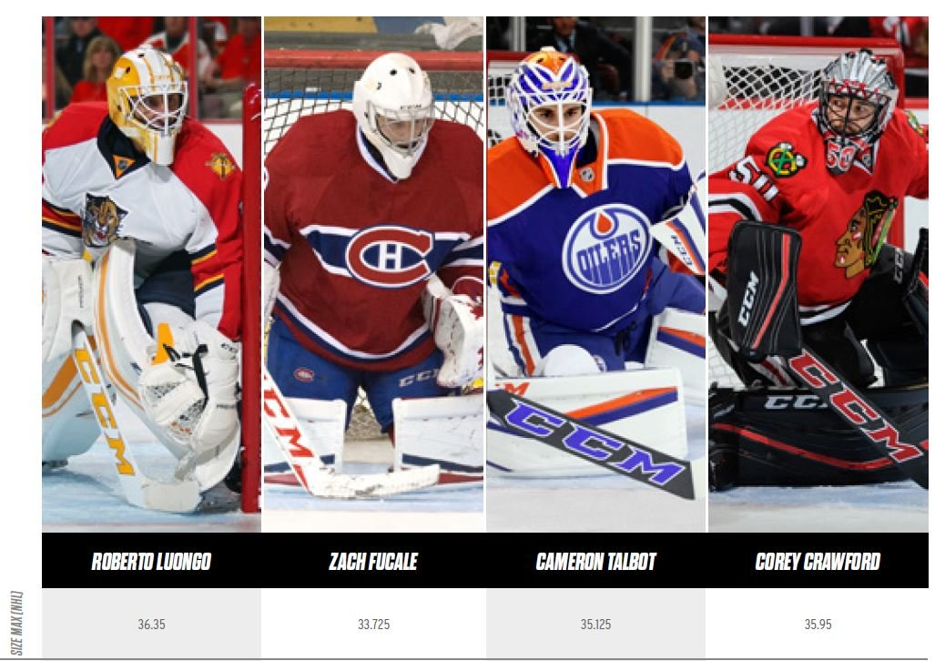Pad Size For Nhl Goalies Pads The Goal Ie Net Work