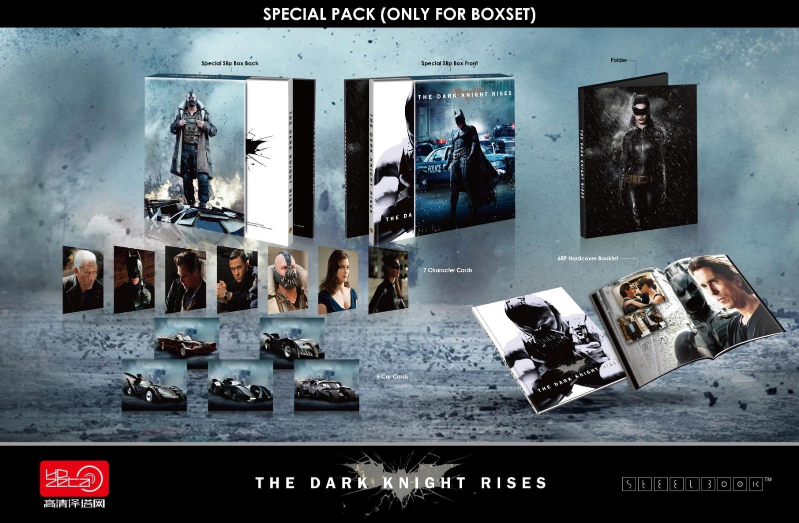 Hdzeta The Dark Knight Rises Hdzeta Gold Label Exclusive 22 Wea 4k Uhd 2d Blu Ray Steelbook China Hdzeta Media Psychos