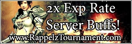 2x Exp / Buff Weekend Event.