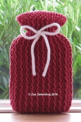 ribbed Hot water bottle Bernat Cotton Red Cr