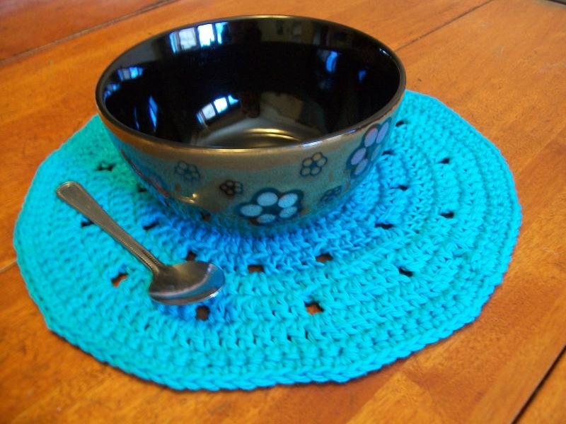 Round Crochet Placemat Pattern Free Original Patterns Crochetville