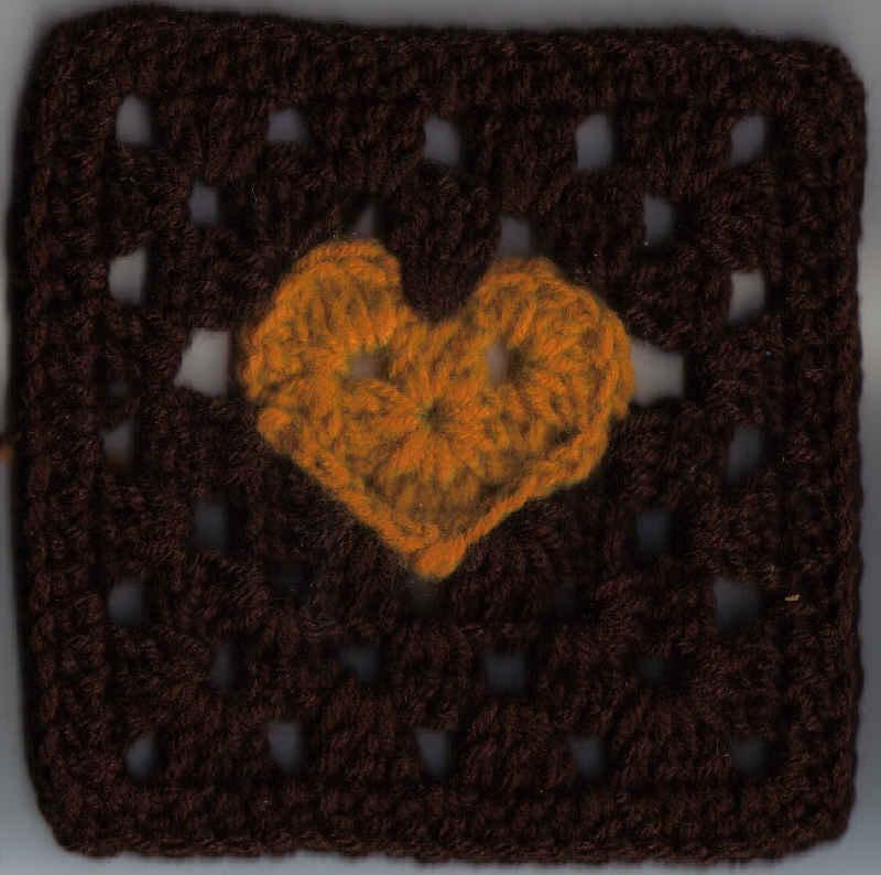 Granny Heart Square 6x6 Inches 2 Images Free Original