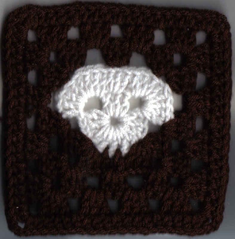 Skull Granny Square 6x6inches Free Original Patterns