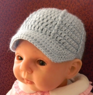 Newborn Ballcap Pattern - Free Original Patterns - Crochetville e71a8db637d