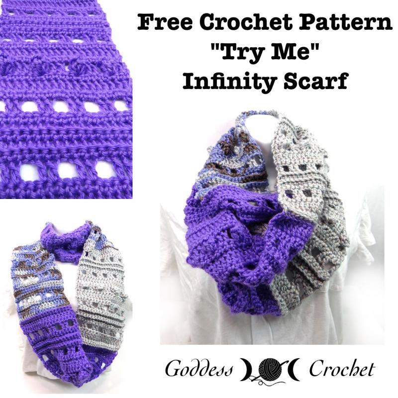 Try Me Infinity Scarf Free Pattern Links Crochetville