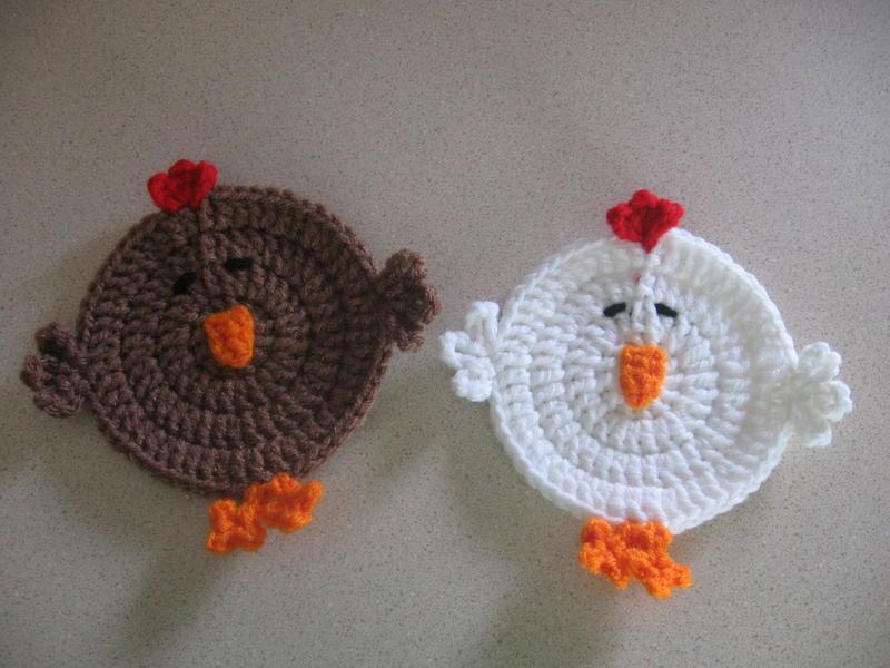 Chicken Coasters Free Original Patterns Crochetville