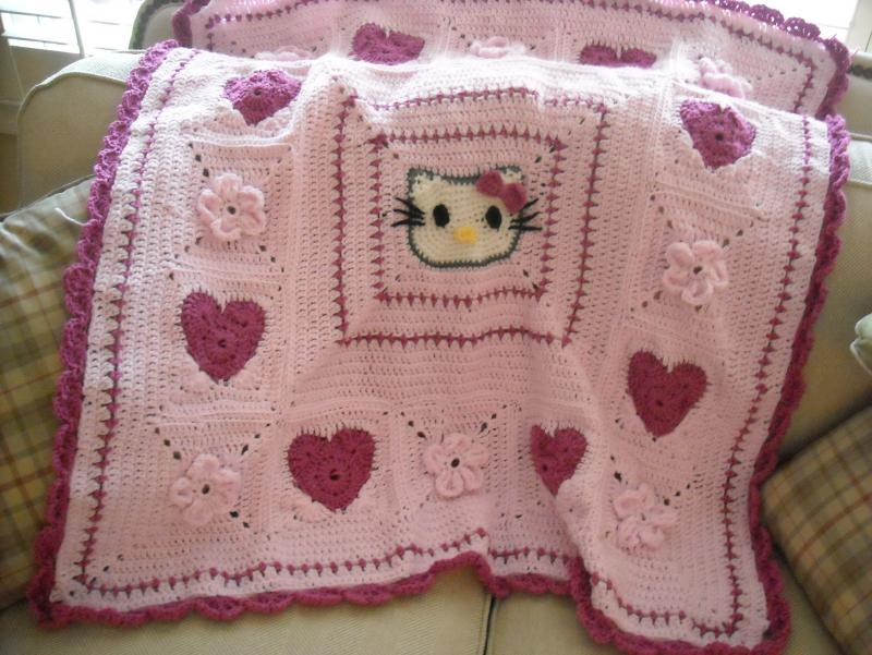 I Heart Hello Kitty Afghan Childrens Items Crochetville