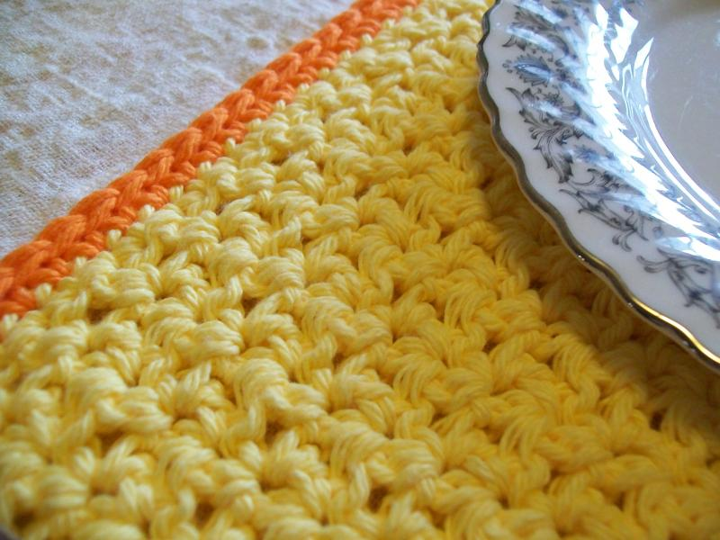 Sunrise Crochet Placemat And Coaster Set Free Original Patterns