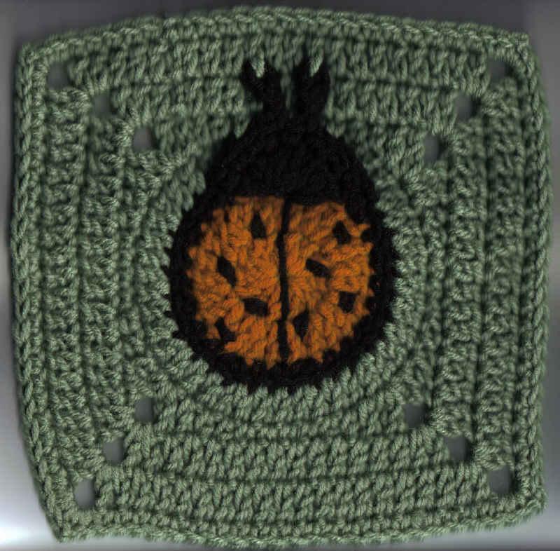 Ladybug Square Free Original Patterns Crochetville