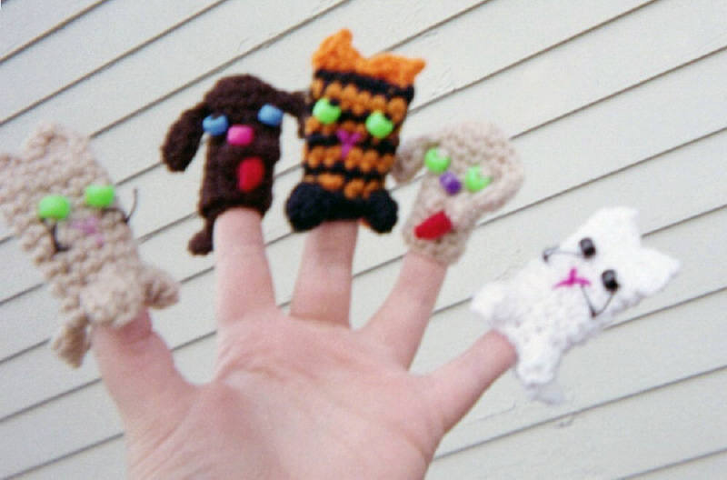 Cat And Dog Finger Puppets 3 Images Free Original Patterns