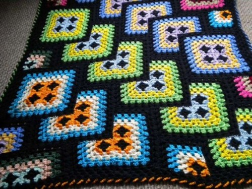 Looking For Granny Square Afghan Geometric Seeking Patterns