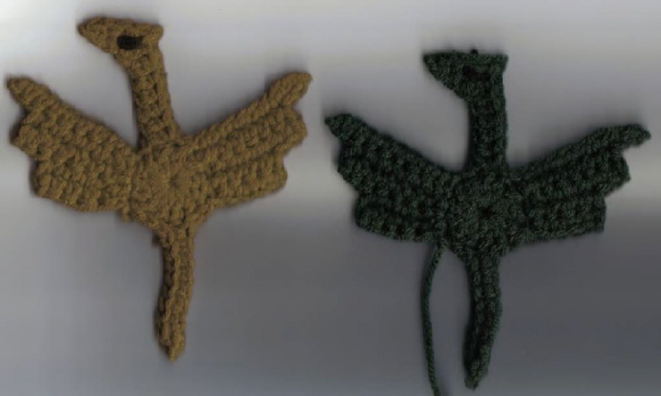 Winged Dragon Applique And Winged Dragon Square 10 Free