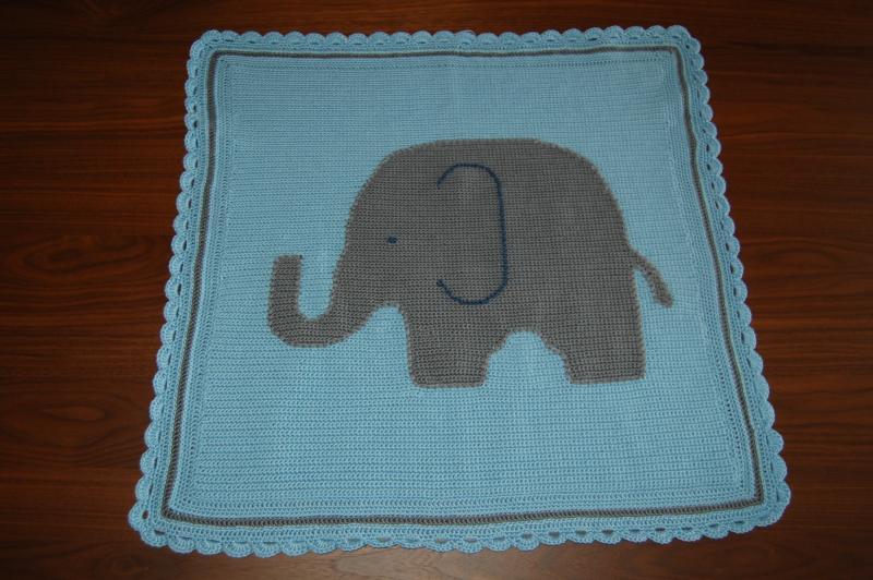 Elephant baby afghan - Afghans - Crochetville