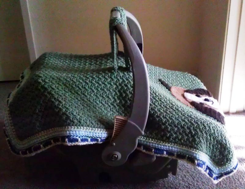 Playful Puppy Car Seat Canopy - Baby & Toddler Items - Crochetville