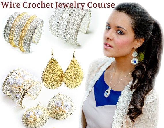 On Sale Jewelry Tutorials Wire Crochet Jewelry Course How To