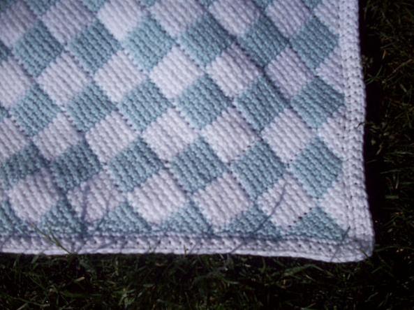 My 1st Tunisian Crochet Entrelac Baby Blanket Baby Toddler Items