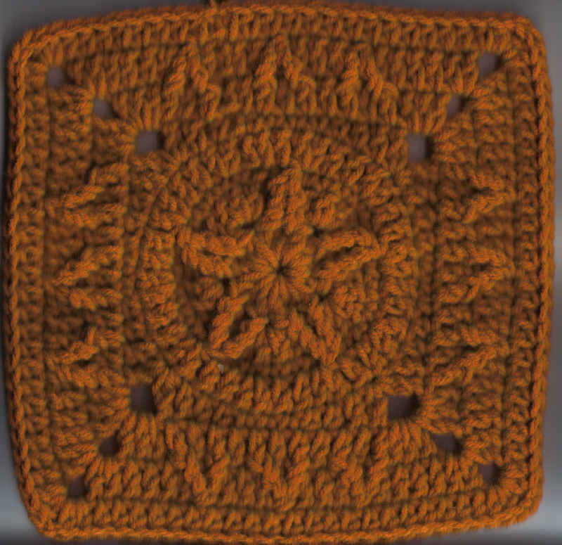 Cabled Star Square 8h X 8w Inches Free Original Patterns