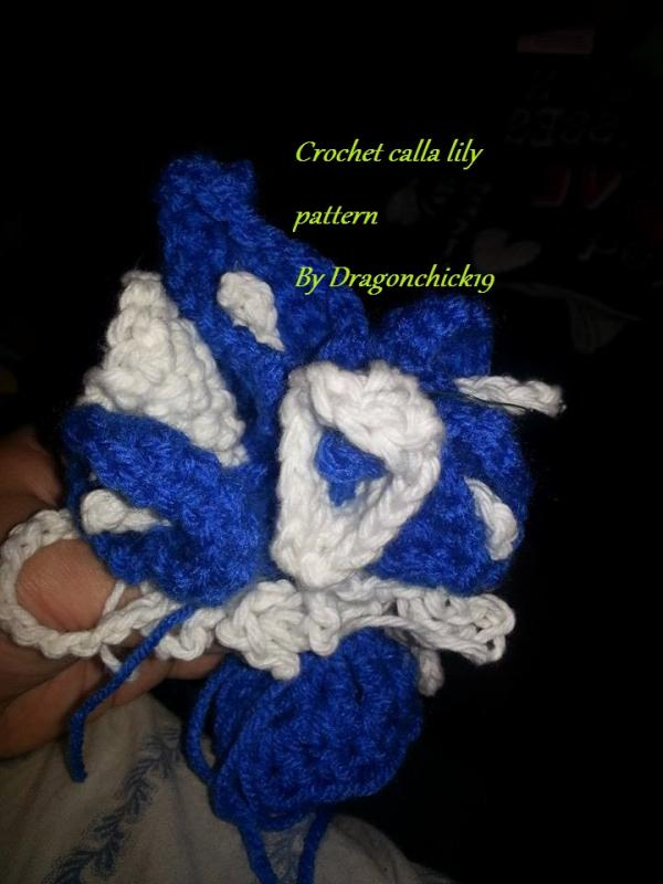 Crochet Calla Lily Make In Less Then 5 Minutes Or Less Patterns
