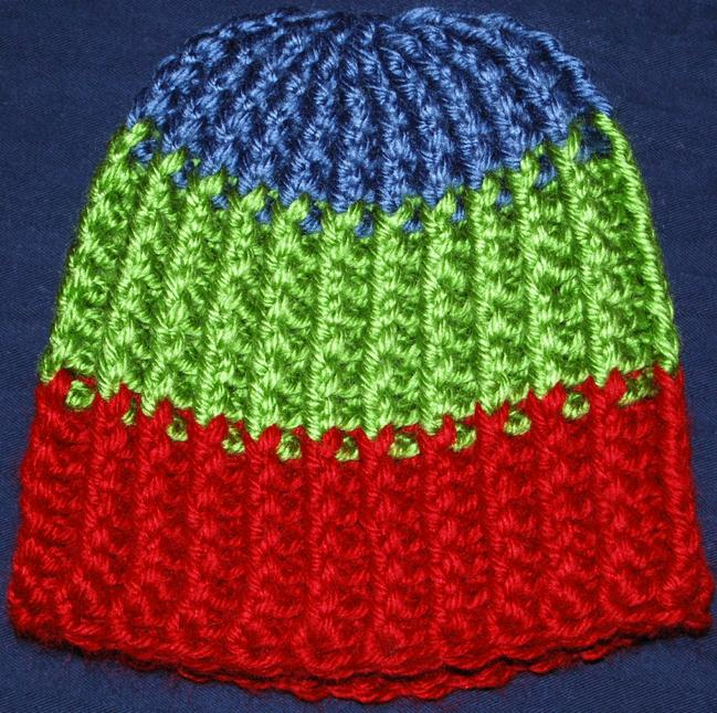 Knit Look Ribbed Hat Free Original Patterns Crochetville