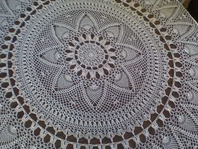 Tablecloth Patterns Pineapple Shells Motif Tablecloth Crochet