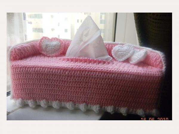 Sofa Tissue Box Cover Kitchen Bath Crochetville
